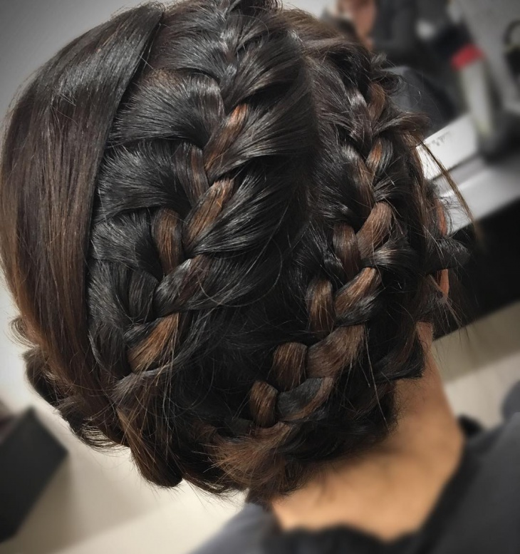 Double Braided Updo for Wedding