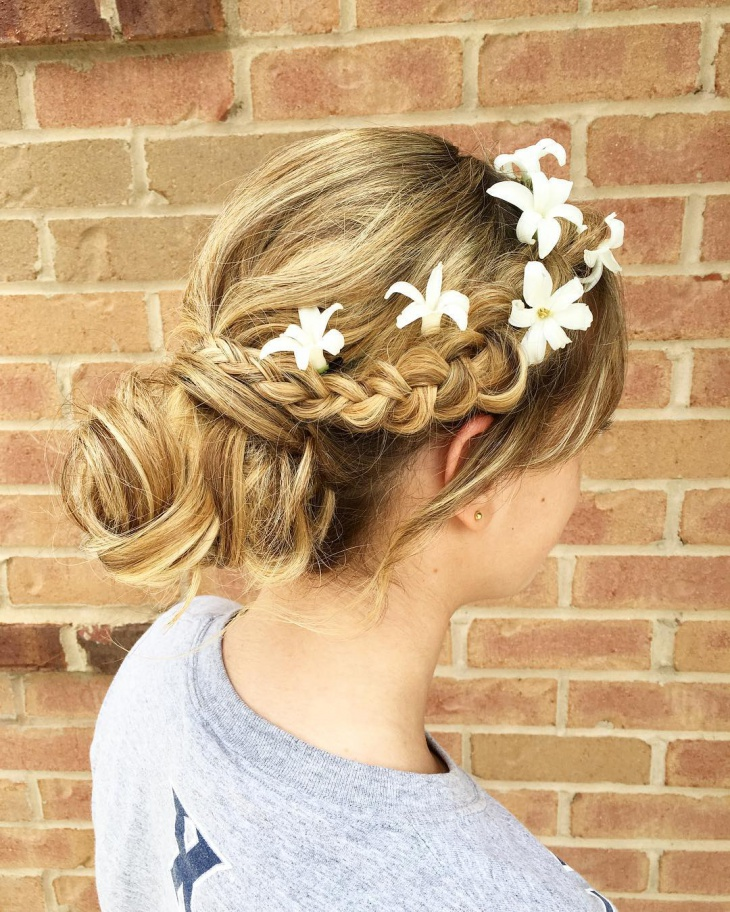spring wedding updo hairstyle