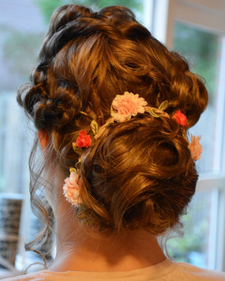 Curly Bridal Updo Hairstyle
