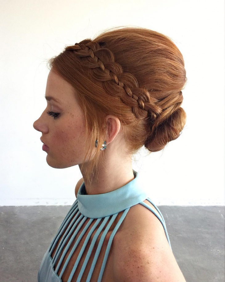 vintage fashion hair updo
