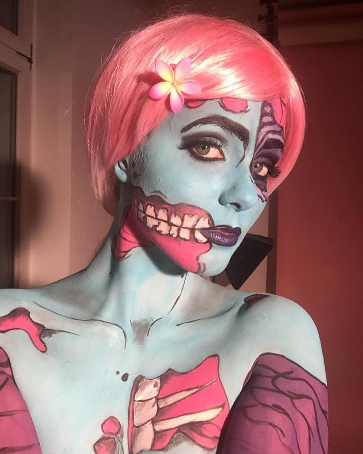 Blue Zombie Makeup
