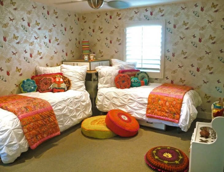 l shaped twin beds