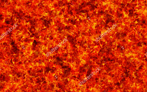 Red Burning Fire Texture Background