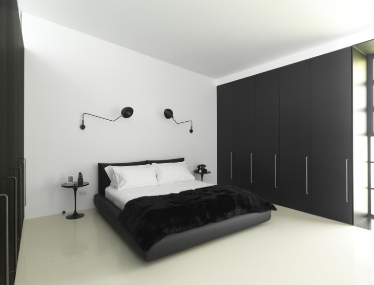 Black and White Bedroom Design Idea