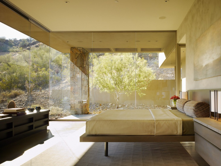 Lavish Bedroom with Glass Wall