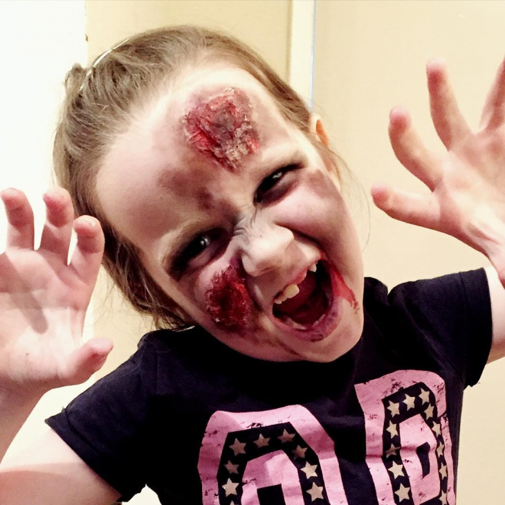 zombie makeup for kid