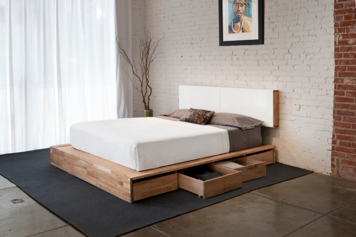 Creative Storage Containers Bed