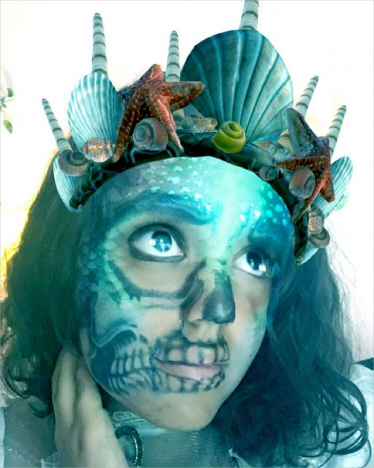 zombie mermaid makeup
