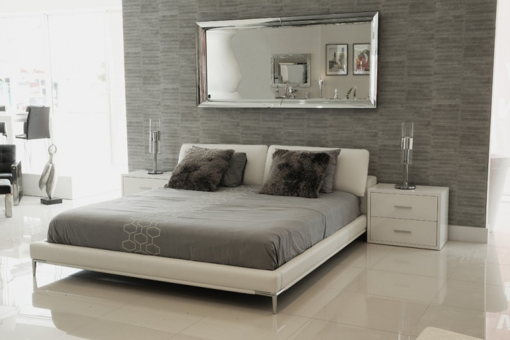 Grey and White Minimalist Bedroom