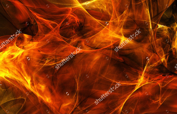 Abstract Textured Fire