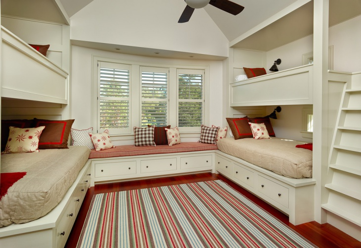 Bunk Bedroom with Storage Space