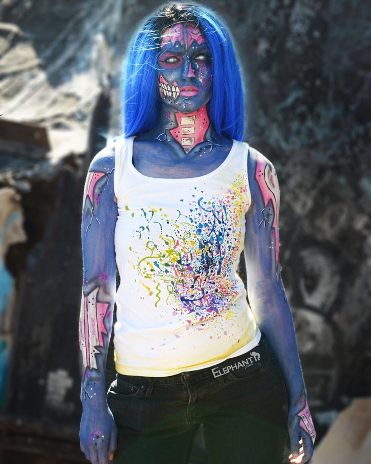 Creative Zombie Makeup