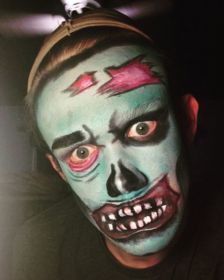 Scary Makeup Design for Men