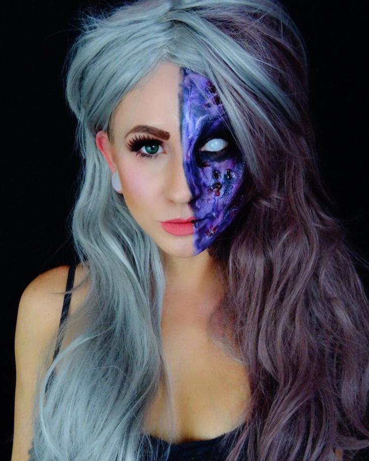 Half Zombie Makeup