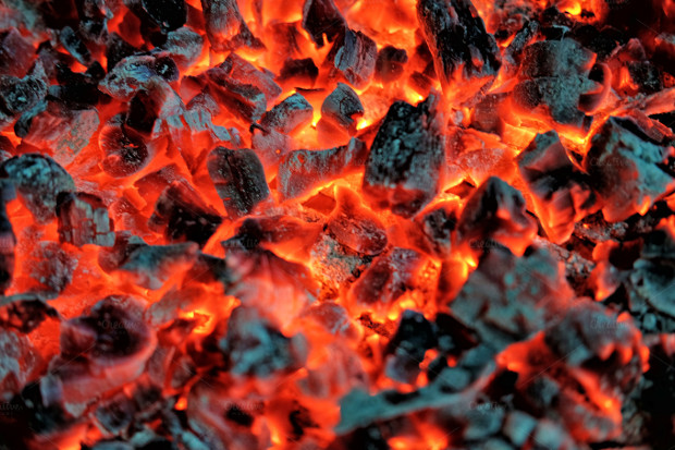 Hot Coal and Fire Texture