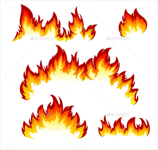 Set of Flames Texture