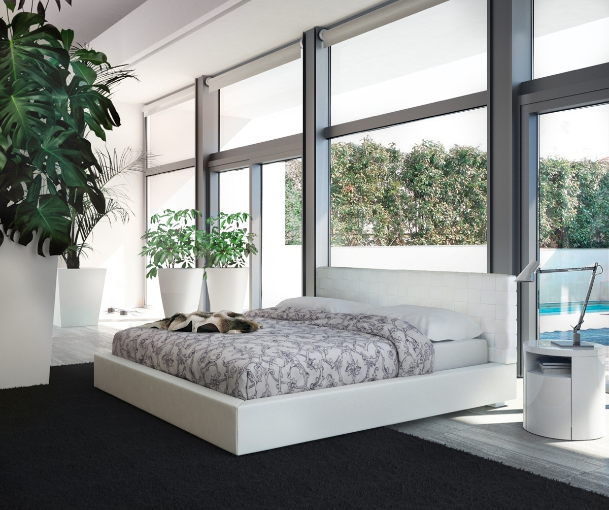 white loft sleek bed idea1