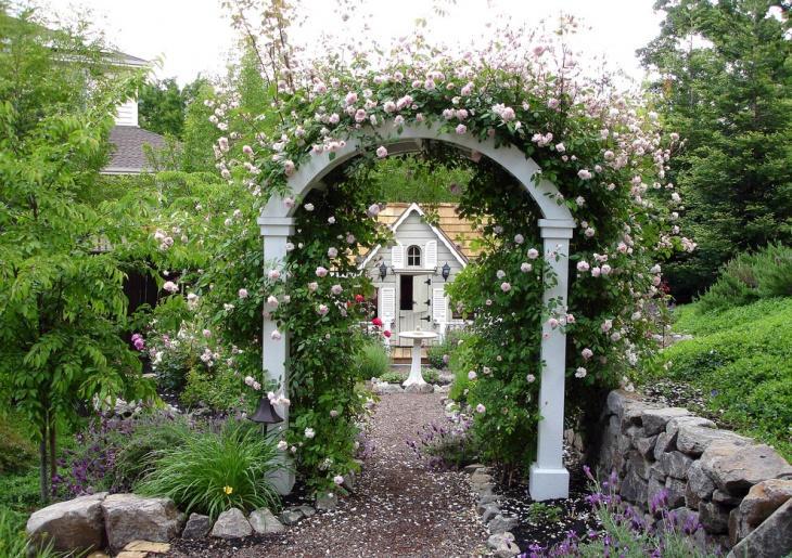 Rose Garden Arbor Idea