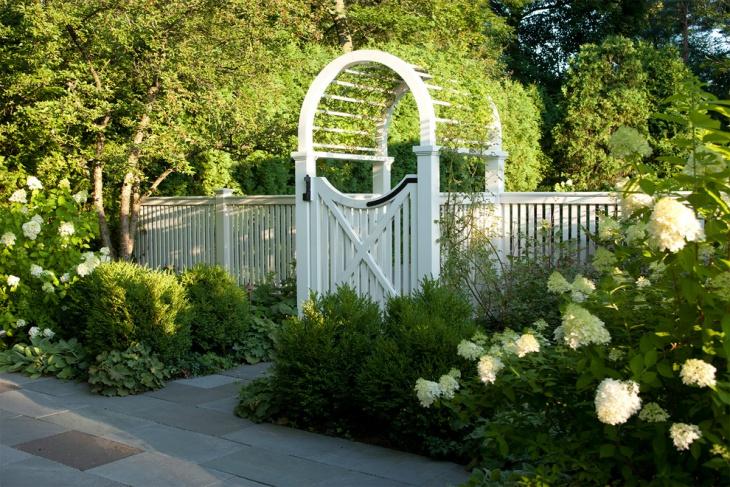 White Garden Arbor
