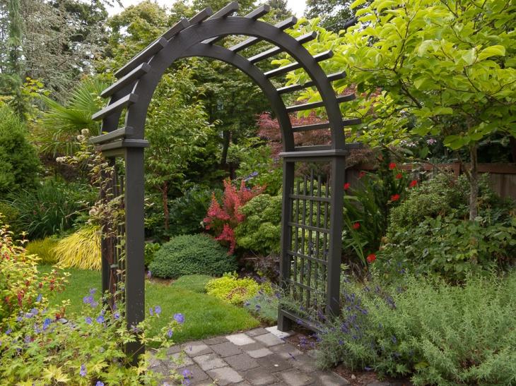 Narrow Garden Arbor