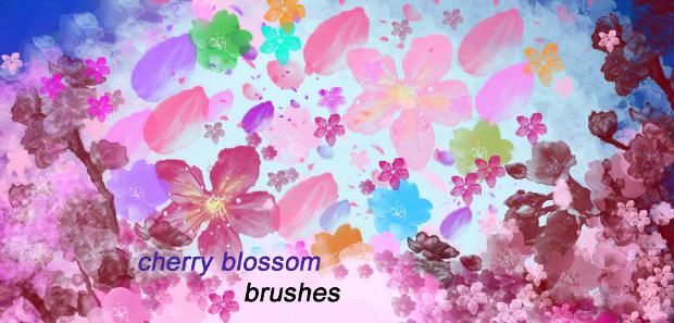 high resolution cherry blossom brushes