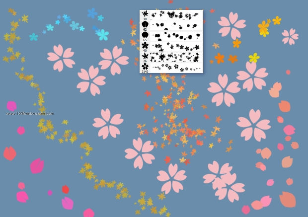 vector photoshop sakura cherry brushes