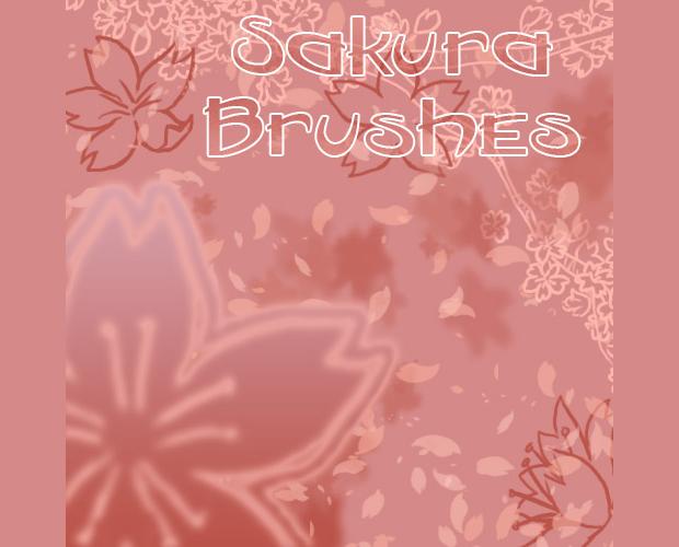 pink sakura cherry brushes