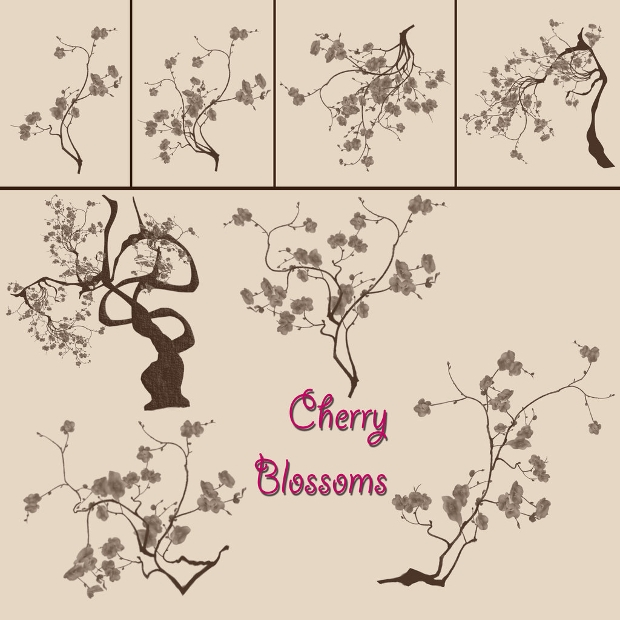 Cherry Blossom Brush Pack