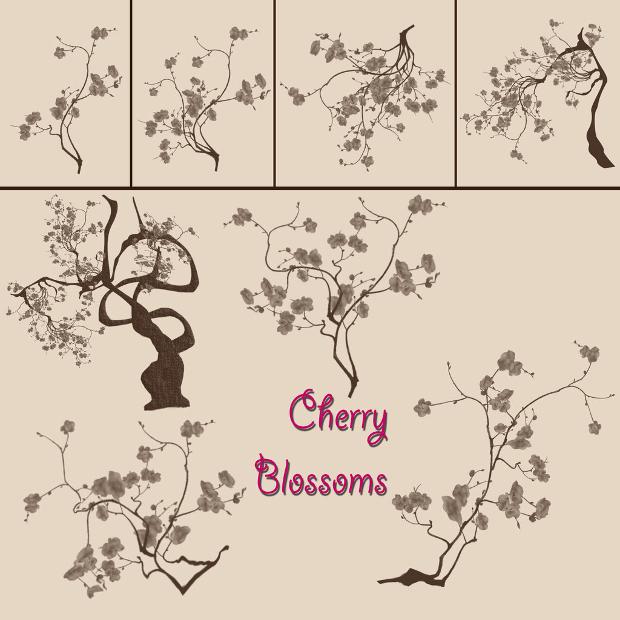 cherry blossom brush pack