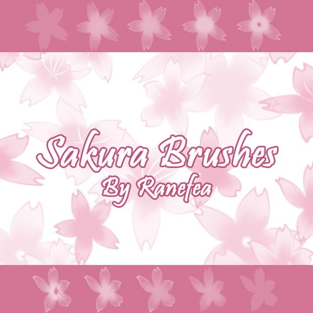 free sakura cherry blossom brushes