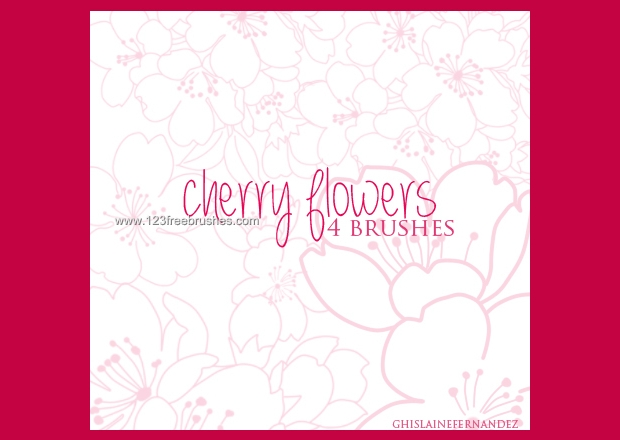 cherry flowers brushes