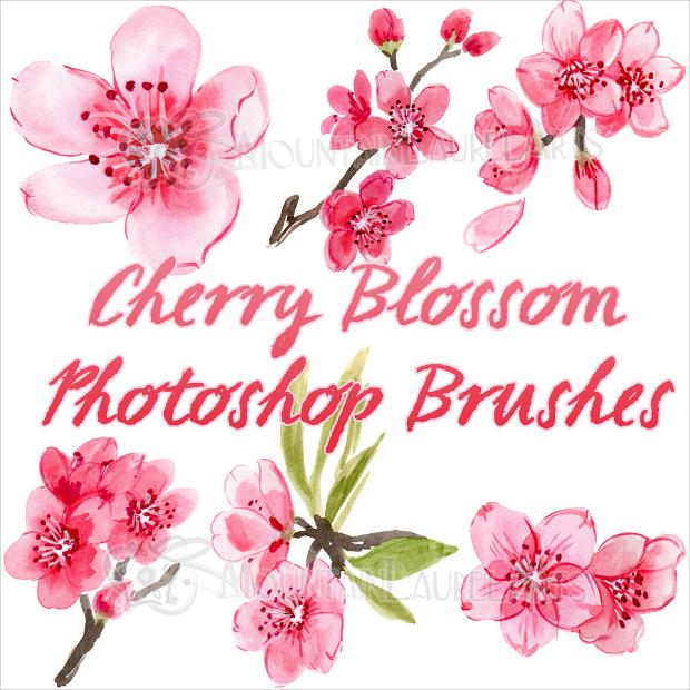 cherry blossom petals brushes