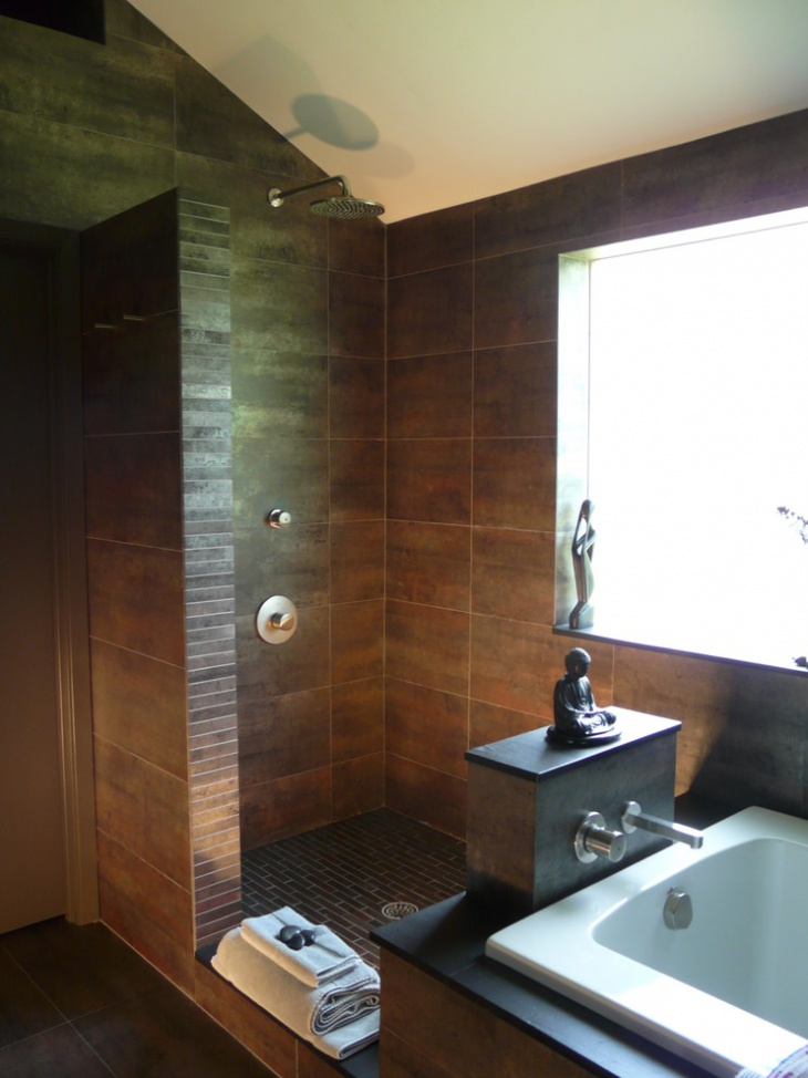20 open shower designs ideas design trends premium for Open bathroom designs