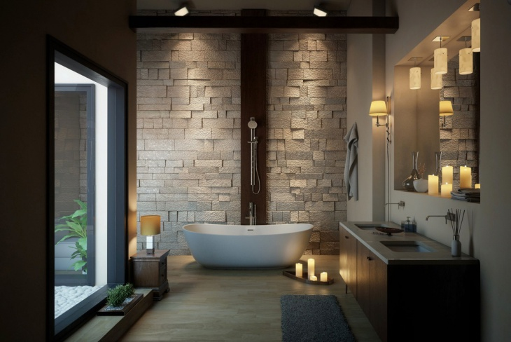 villa interior bathroom idea