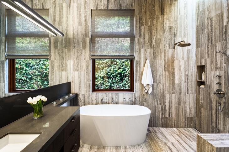 rustic bathroom shower idea