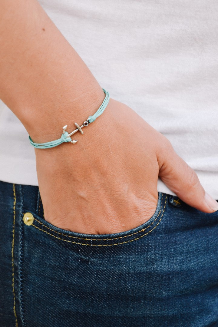 anchor turquoise bracelet