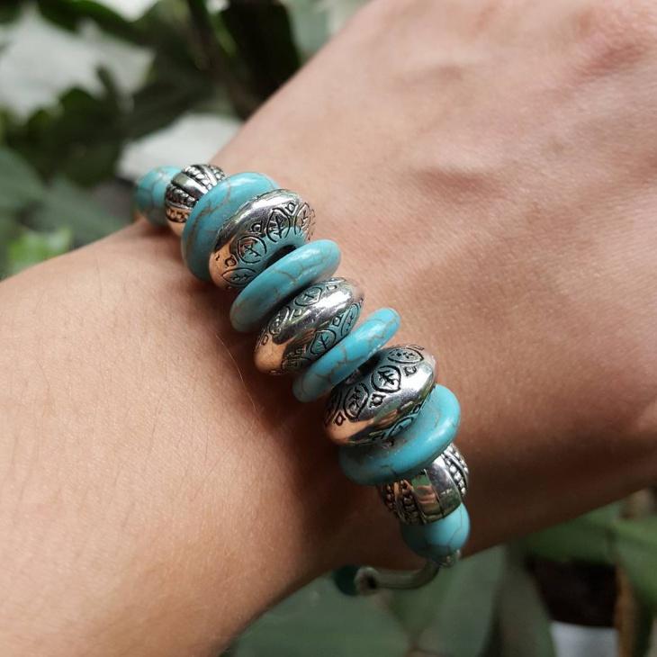 bead turquoise bracelet