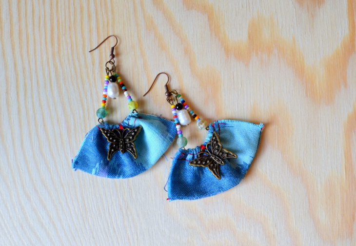 Handmade Fabric Earrings