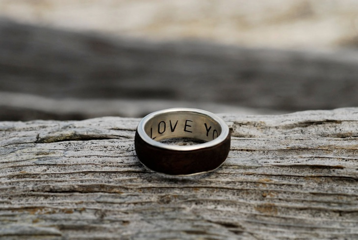 Secret Message Wedding Ring