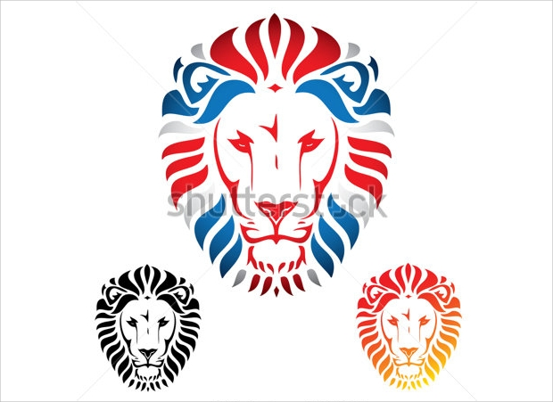 Lion Face Vector Illustration