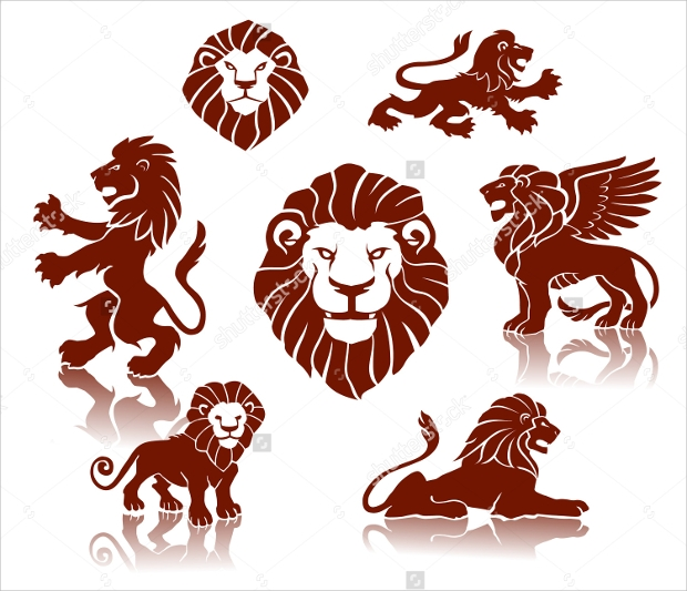 Silhouette Lion Vector Download