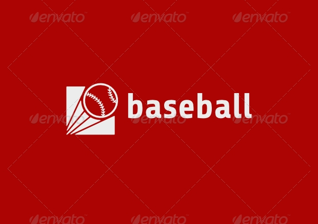 Colorful PSD Baseball Logo