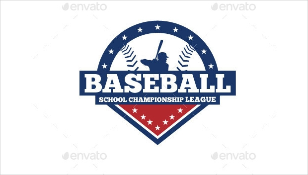 Baseball Badge Logo