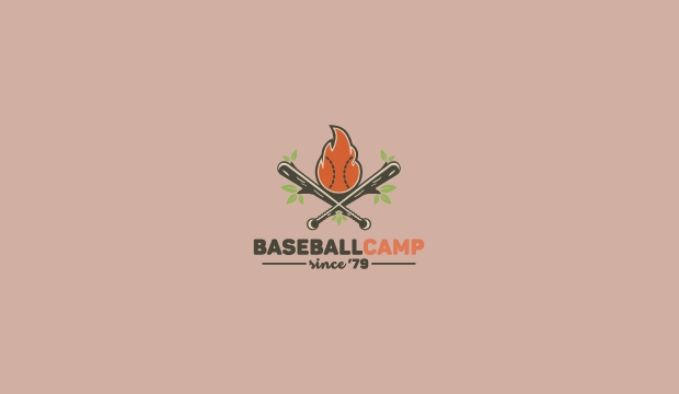 Baseball Camp Logo Template