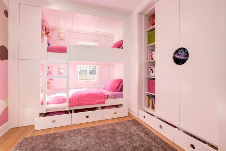 kids bunk beds storage