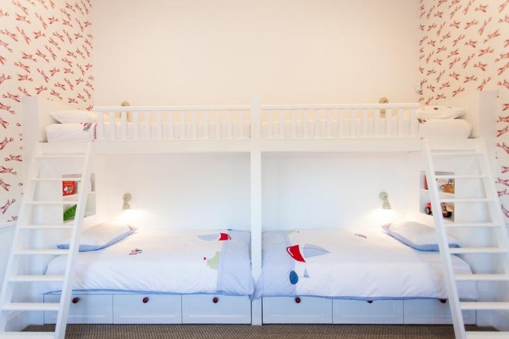 kids double bunk bedroom idea