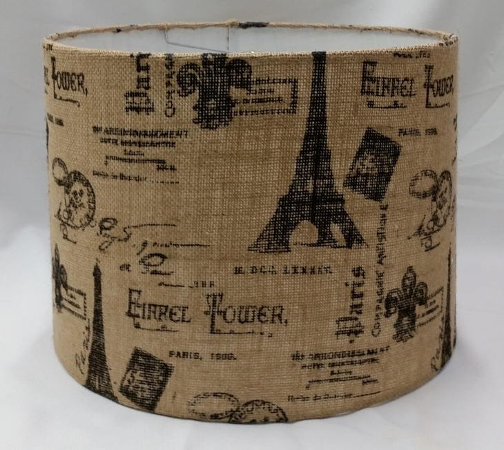 Burlap Drum Shade Idea