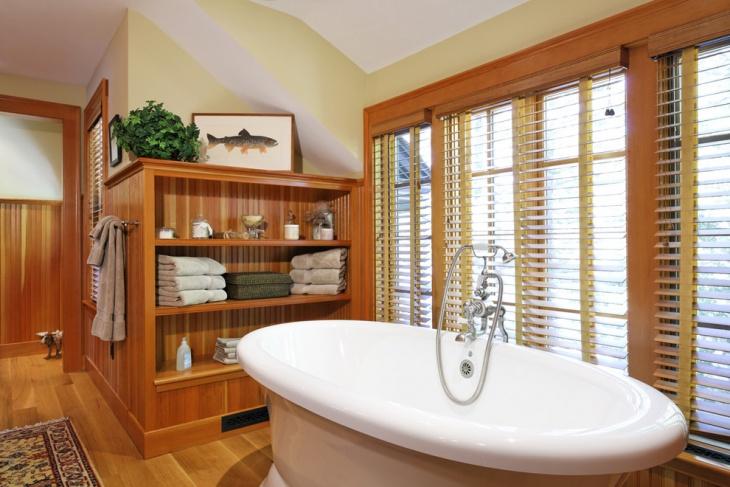 oak floating bathroom shelves