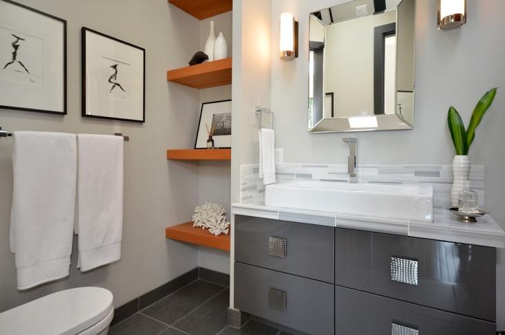 master bathroom floating shelves idea