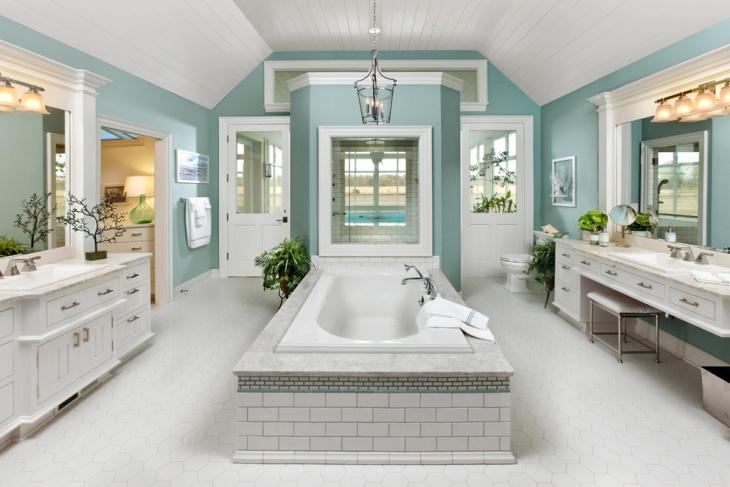 beach style 3 piece bathtub
